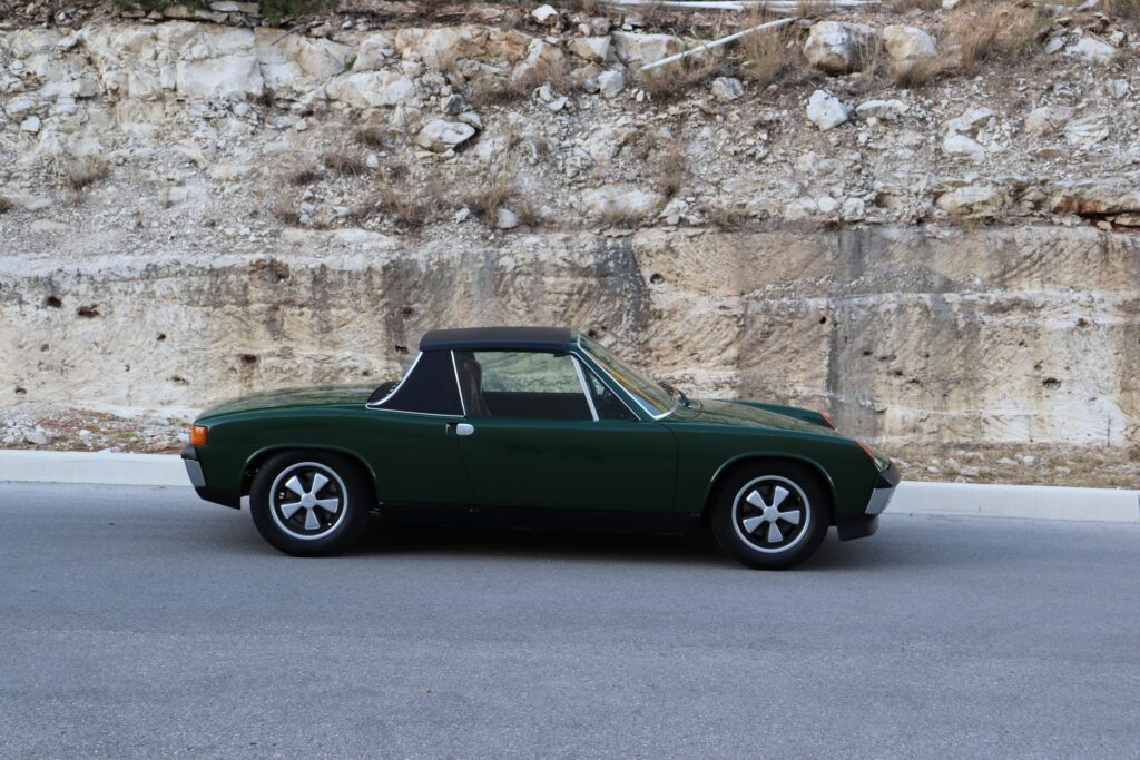 Porsche 914 painted in Irish Green